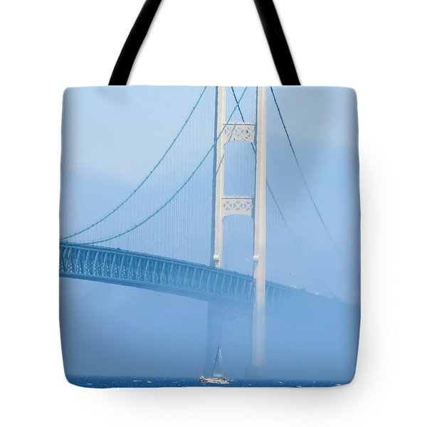 Sailing In The Fog Tote Bag