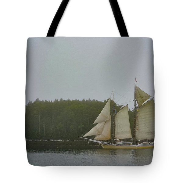 Sailing In The Mist Tote Bag