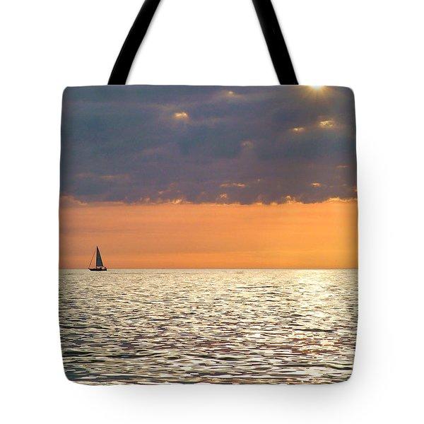 Sailing In The Sun Tote Bag