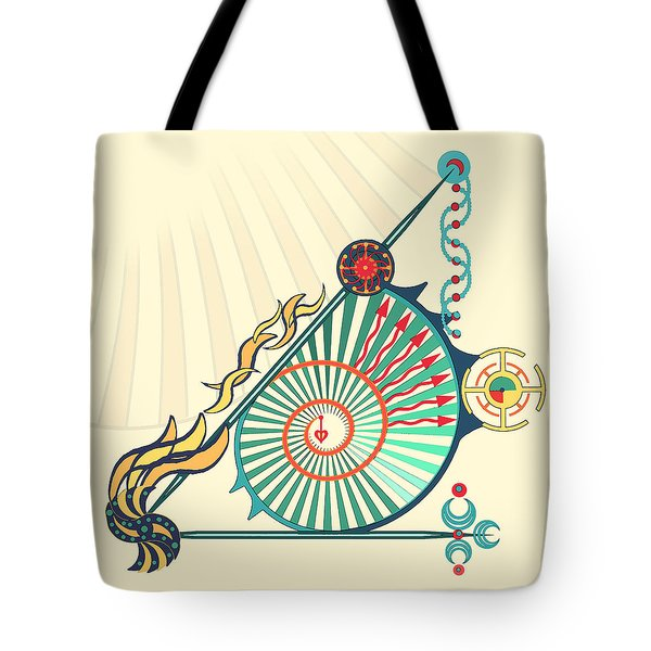 Tote Bag featuring the digital art Sailing Infinity by Deborah Smith