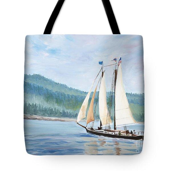 Sailing Into Castine Harbor Tote Bag