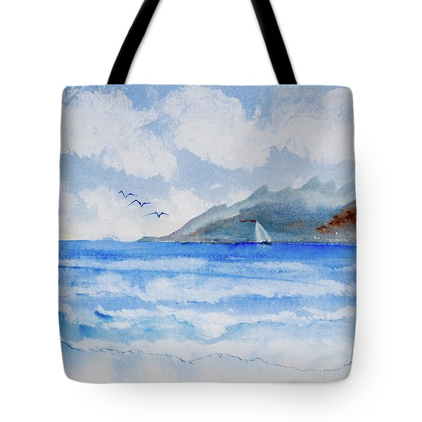 Sailing Into Moorea Tote Bag