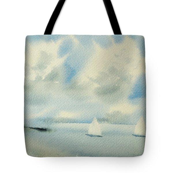 Sailing Into A Calm Anchorage Tote Bag