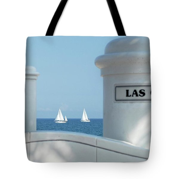 Sailing Las Olas Tote Bag