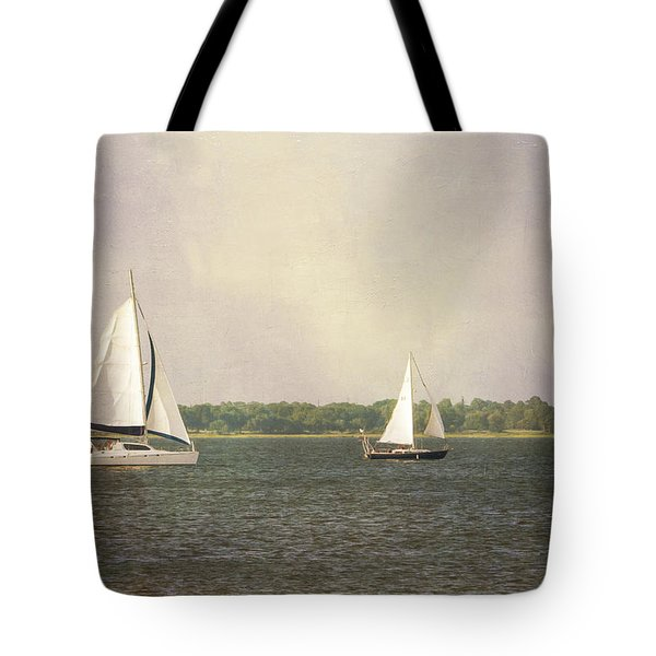 Tote Bag featuring the photograph Sailing by Michael Colgate