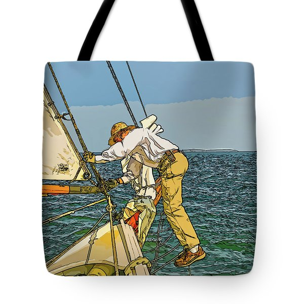 Sailing-not For Wimps-abstract Painting Tote Bag