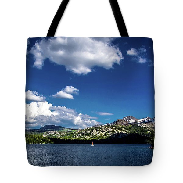 Sailing On Caples Lake Tote Bag
