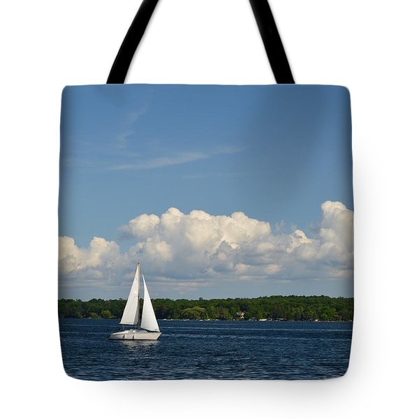 Sailing On Kempenfelt Bay  Tote Bag by Lyle Crump