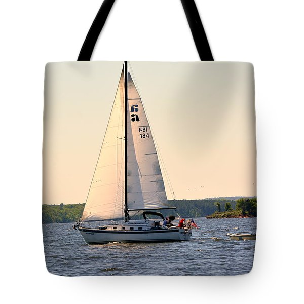 Tote Bag featuring the photograph Sailing On Lake Murray Sc by Lisa Wooten