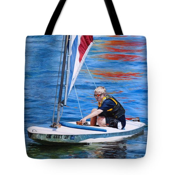 Sailing On Lake Thunderbird Tote Bag