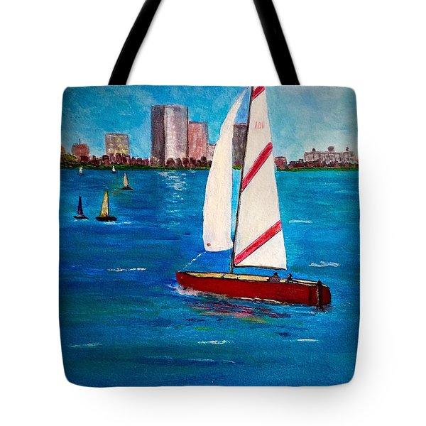 Sailing On The Charles Tote Bag