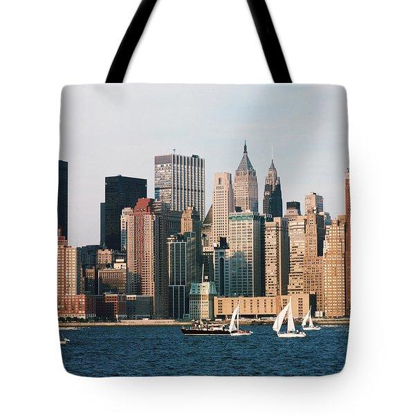 Sailing On The Hudson River Tote Bag