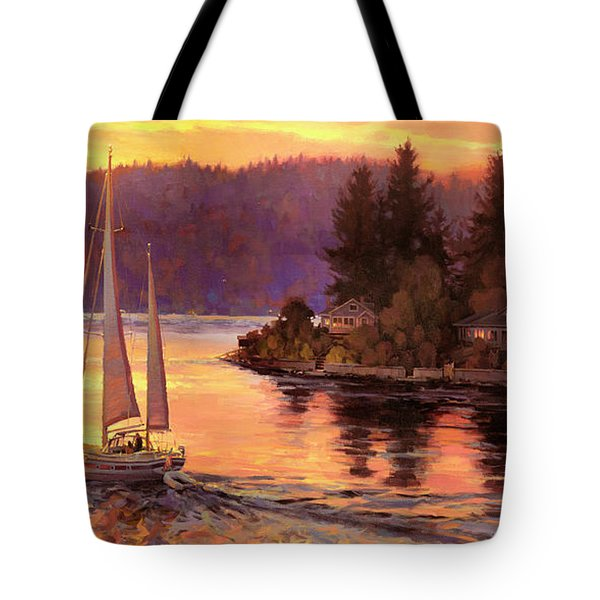 Sailing On The Sound Tote Bag