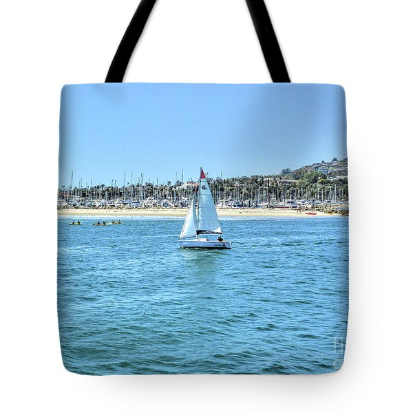 Sailing Out Of The Harbor Tote Bag