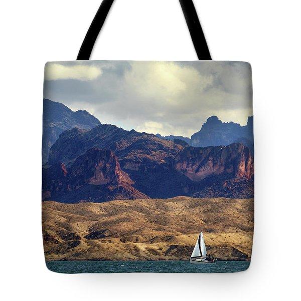 Sailing Past The Sleeping Dragon Tote Bag