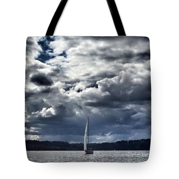 Sailing Puget Sound Tote Bag