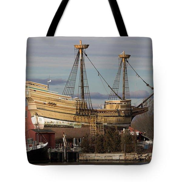 Sailing Ship Repairs Tote Bag