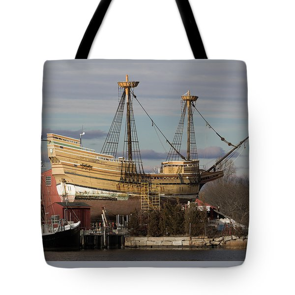 Sailing Ship Repairs Tote Bag