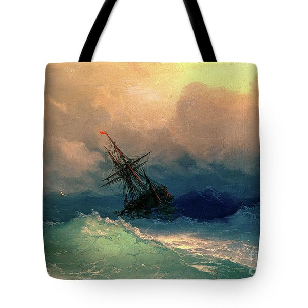 Sailing Ships In The Harbor Tote Bag