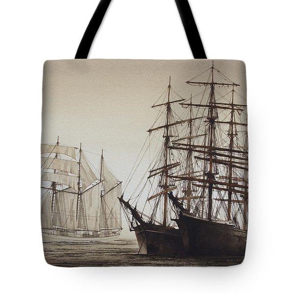 Sailing Ships Tote Bag by James Williamson