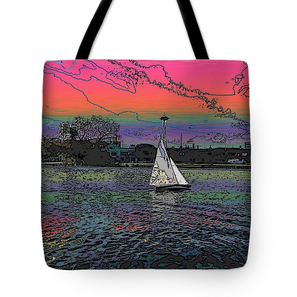 Sailing South Lake Union Tote Bag by Tim Allen