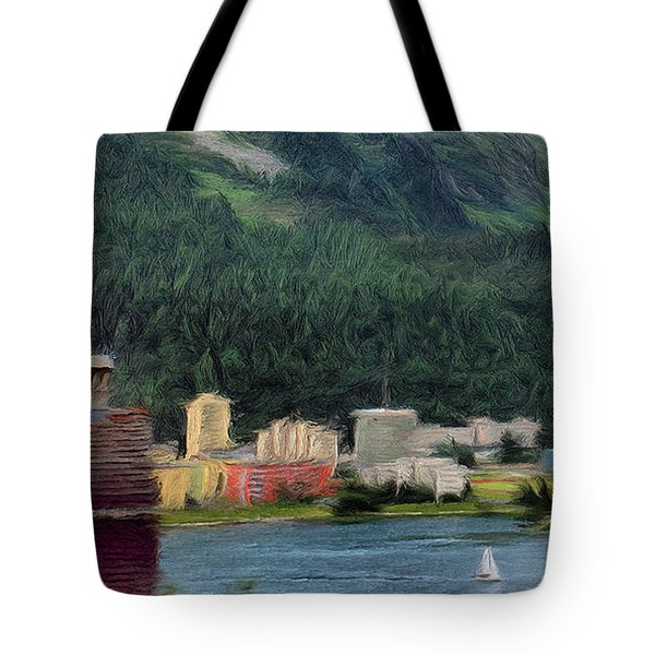 Sailing St Moritz Tote Bag by Jeff Kolker