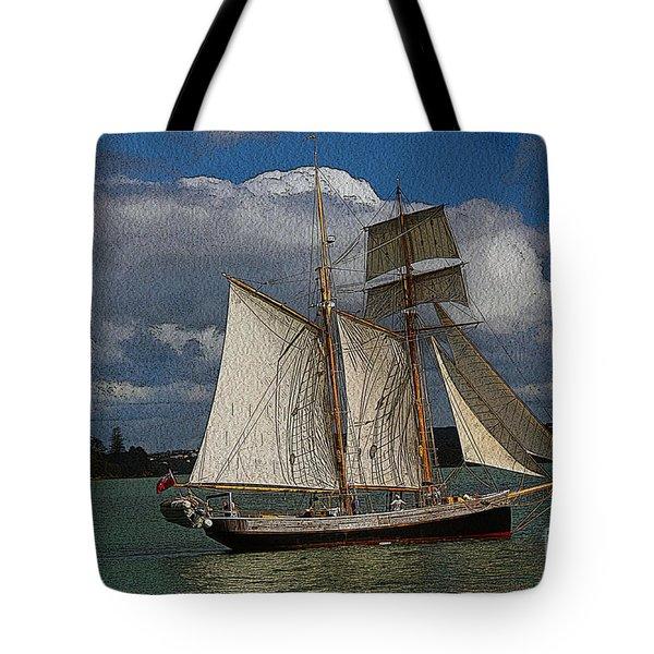 sailing the Bay of Islands Tote Bag