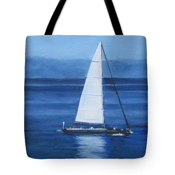 Sailing The Blues Tote Bag