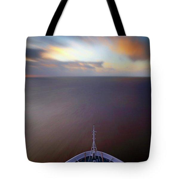Tote Bag featuring the photograph Sailing The Caribbean - Cruise Ship - Sunrise - Seascape by Jason Politte