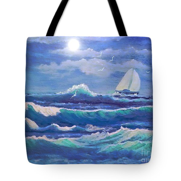 Sailing The Caribbean Tote Bag