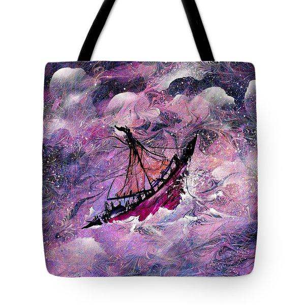Sailing The Heavens Tote Bag by Rachel Christine Nowicki
