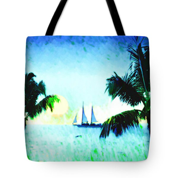 Sailing The Keys Tote Bag by Bill Cannon