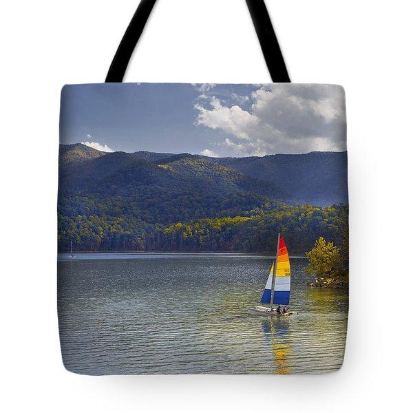 Sailing The Mountain Lakes Tote Bag