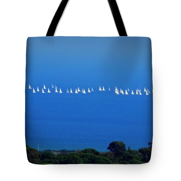 Sailing The Sea And Sky Tote Bag