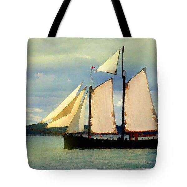 Sailing The Sunny Sea Tote Bag