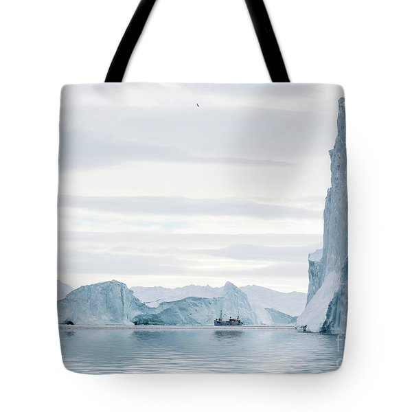 Sailing Through  The Icefjord Tote Bag