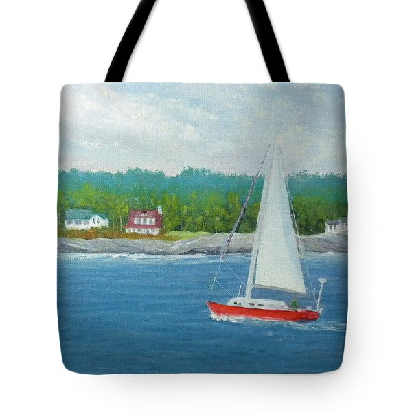 Sailing To New Harbor Tote Bag