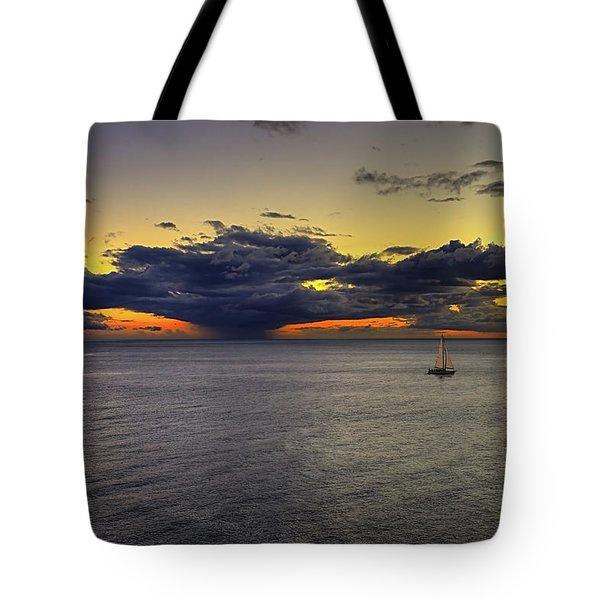 Sailing To Sunset Tote Bag