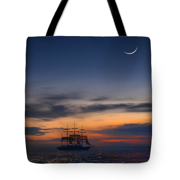 Sailing To The Moon 2 Tote Bag by Mike McGlothlen
