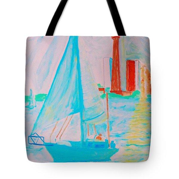 Sailing Toronto, Canada Tote Bag