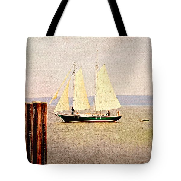 Tote Bag featuring the photograph Sailing  by Trina  Ansel