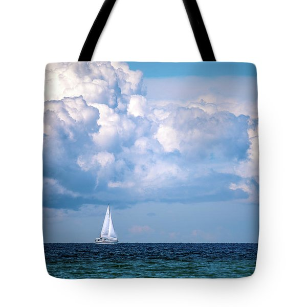 Sailing Under The Clouds Tote Bag