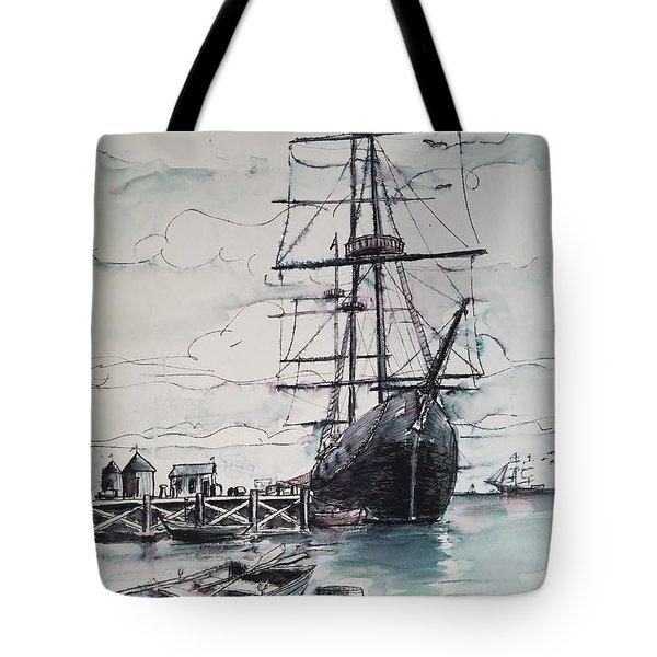 Sailing Vessel Pandora Tote Bag