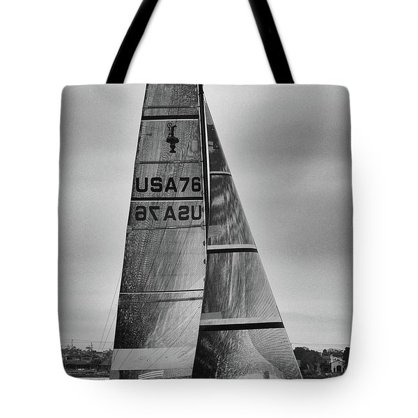 Sailing With Dolphins Tote Bag