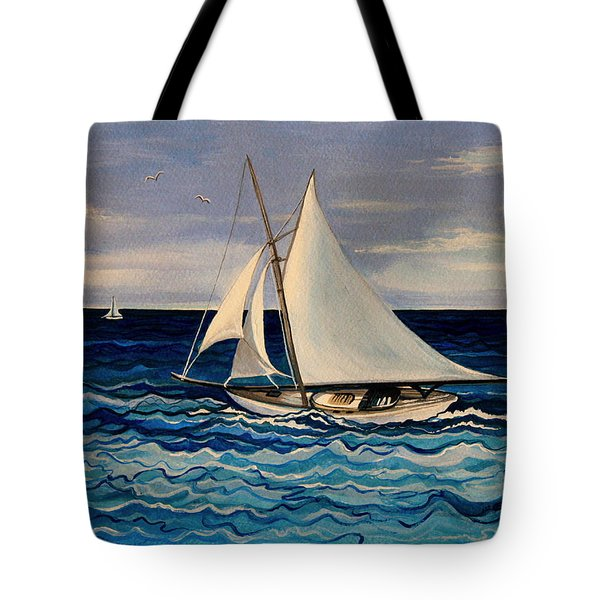Sailing With The Waves Tote Bag