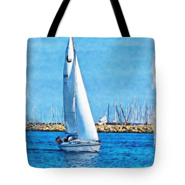 Sailling Ship Tote Bag