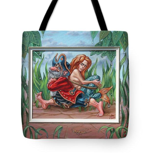 Sailor And Mermaid Tote Bag
