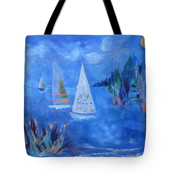Sails And Sun Tote Bag