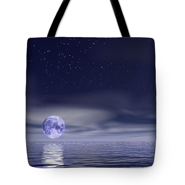 Sails Beneath The Moon Tote Bag by Mark Blauhoefer