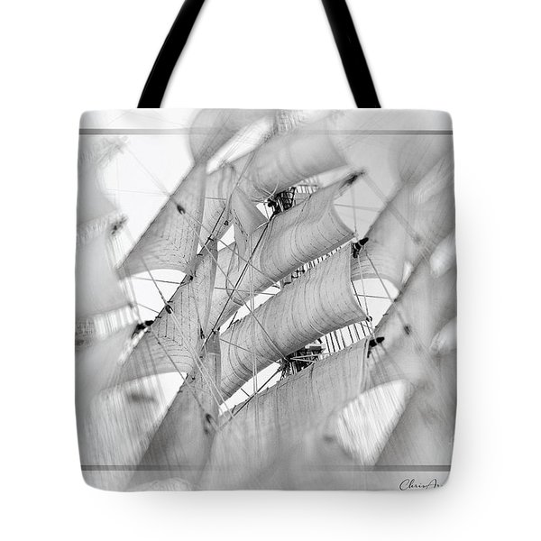 Tote Bag featuring the mixed media Sails by Chris Armytage